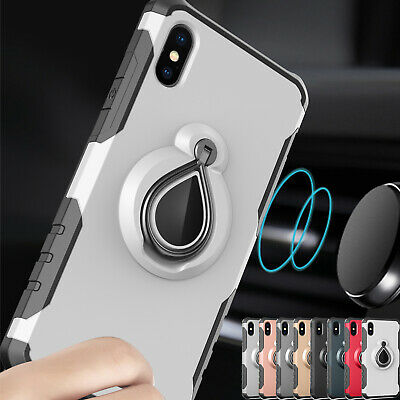 For iPhone XS Max/XR/7 8 Plus Hybrid Heavy Duty Shockproof Hard Stand Case Cover