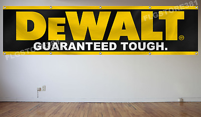 DeWalt Tools Flag Banner 2x8 Ft Wall Decor Garage Shop Man Cave New Large Banner