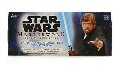 Star Wars Masterwork Hobby Box (Topps 2018) Factory Sealed Box IN STOCK