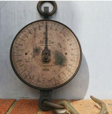 Salters spring balance scales great patina working order retro vintage weights