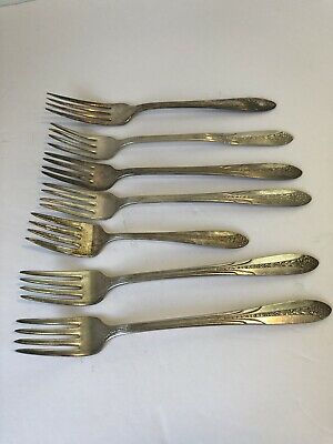 National Silver Co. A1 Dinner Forks Vintage Qty 7 Kitchen Silverware