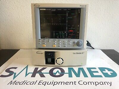 Datascope Passport 2 Patient Monitor ECG, Spo2, NIBP Co2 and GAS Module / TESTED