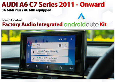 AUDI C7 A6 HDMI HD Apple AirPlay Android MirrorLink phone