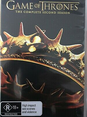 GAME OF THRONES - Season 2 5 x DVD Set AS NEW! Complete Second Series Two