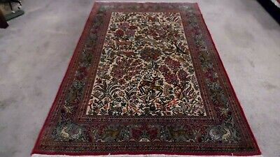 Fine Quality Antique Tree of Life Wool  Hand knotted Pictorial Rug Carpet