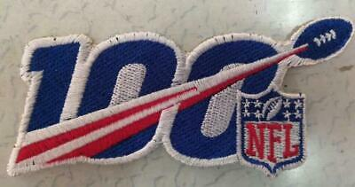 """100th Years Anniversary 2019 Football Jersey Logo Patch 5"""" Sew On Embroidered"""