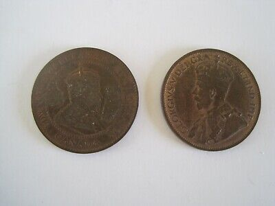 Canada 1 Cent Coins 1906 1916 Lot 2