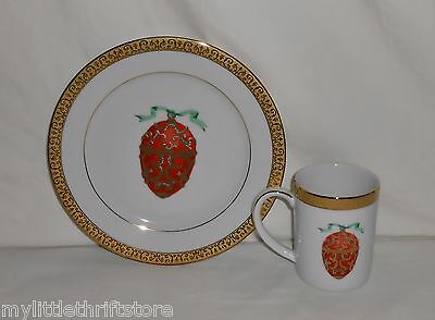 1991 Federal Department Stores Gold Buffett Royal Gallery Red Faberge Egg Plate