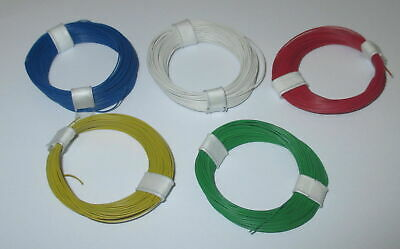 (0,179 €/ M) Stranded Wire Extra Thin 0,04 mm ² 5 Rings a 10 Meter New Choice of