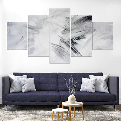 Artistic Abstract White Backdrop Canva Print Painting Home Deco Wall Art Picture