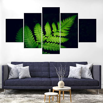 Fern Plant Green Leaf Canvas Print Painting Framed Home Decor Wall Art Picture