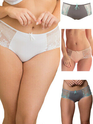 Pour Moi Imogen Rose Mid Rise Brief 3804S Soft Smooth Semi Sheer Knickers