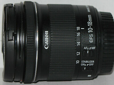 Canon EF-S 10-18mm f/4.5-5.6 IS STM in very good condition