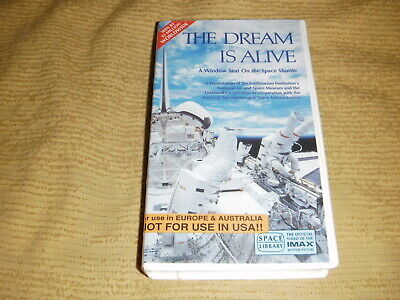 rare The Dream Is Alive 1985 VHS TAPE as NEW nasa space shuttle imax VIDEO PAL