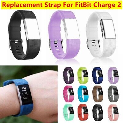 Replacement Watch Strap For Fitbit Charge 2 Strap Sports Silicone Wrist Band UK