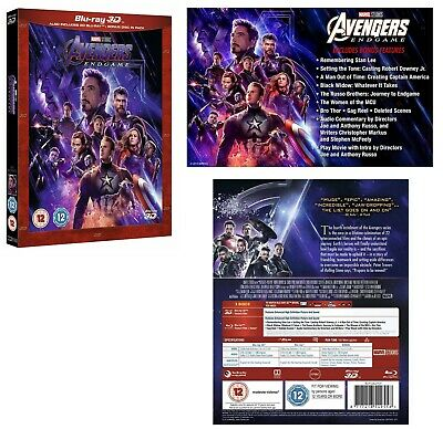 AVENGERS: ENDGAME (2019): MARVEL, Iron Man, Thor - NEW RgFree 3D + 2x BLU-RAY