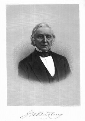 JAMES WARE BRADBURY, Smith, Gregorie, Augusta, Maine, U. S. Senator. antique eng