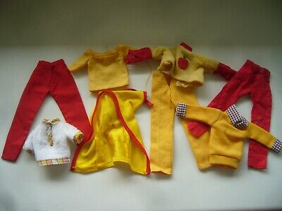 Vintage 1970s Pedigree Sindy Fashion Doll Clothes - Apple Top Lovely Lively