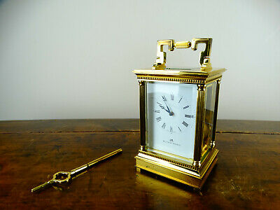 Matthew Norman Grande Swiss Carriage Clock Striking Chiming 8 Day 11 Jewel 1751A