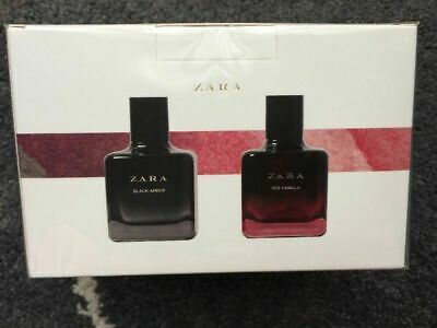 Zara Red Vanilla Eau De Toilette 100 Ml + Black Amber 100 Ml Fragrance Parfum