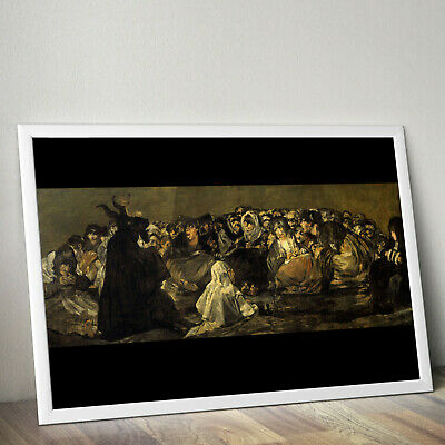 Art Print//Poster 1431 The Great He-Goat Francisco de Goya: Witches Sabbath