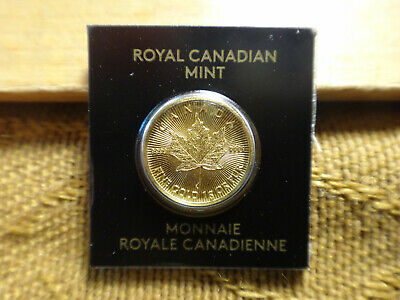 GOLD 1 GRAM 50 cents MAPLE LEAF COIN CANADA  9999 PURE