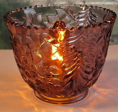 Vintage Amethyst Glass Fitter Shade Ceiling Bridge Wall Fixture Table Lamp
