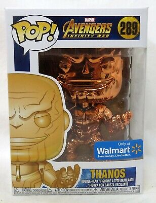 Funko Pop Marvel Avengers Endgame #415 Thanos Orange Chrome Walmart Vinyl Figure