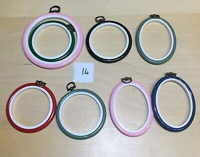 Bundle Of 8 Flexi Hoops Cross Stitching Or Embroidery Green