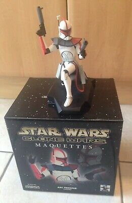 Star Wars Gentle Giant Animated Clone Arc Trooper Captain Maquette New With Box