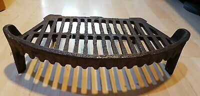 Antique Style Curved Cast Iron Fire Coal Grate Basket Inglenook Open Fireplace