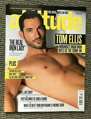 Rare Vintage UK Attitude Magazine Tom Ellis February 2012 Gay Interest  Miranda