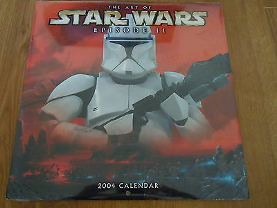 The Art of STAR WARS Episode II: 2004 CALENDAR collectable (New / Shrinkwrapped)