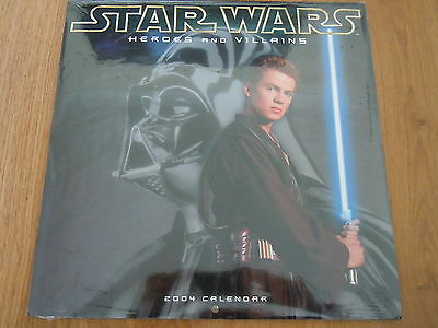 STAR WARS Heroes and Villains 2004 CALENDAR collectable (New & Shrinkwrapped)