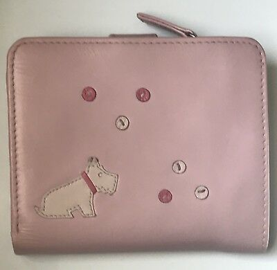 Radley Medium Pale Pink Leather Bubbles Purse Wallet - Very Good Condition