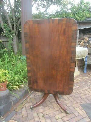 Antque Oblong Tip Up Rosewood & Mahogany   Table