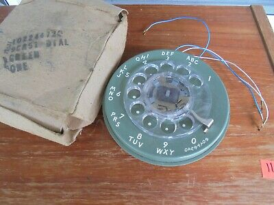 Western Electric Green Rotary Phone Dial  9C in BOX NOS PART!