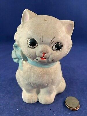 Antique Vintage Cast Iron (CI) Still Bank - Kitty Bank