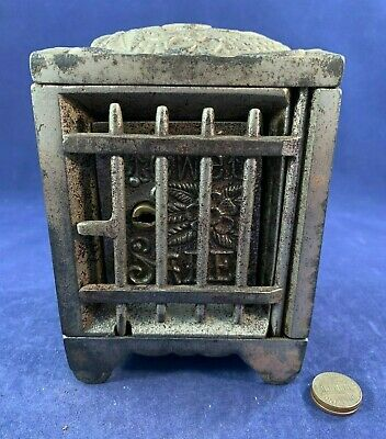 Antique Vintage Cast Iron (CI) Still Bank - Jewel Safe