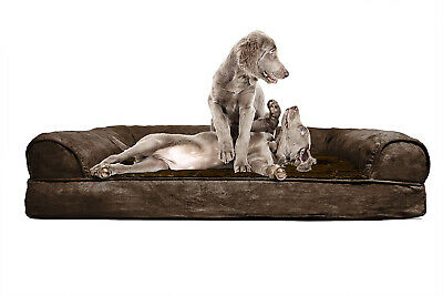 Furhaven Pet Dog Bed | Orthopedic Ultra Plush Faux Fur and Suede Sofa-Style Pet