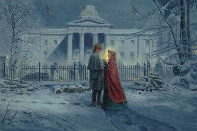 Mort Kunstler - Capitol Farewell  - Collectible Civil War Print - S/N 73/350