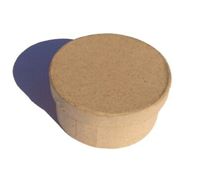 PAPER MACHE CRAFT ROUND SHAPED BOX WITH LID $4.95 for 10 boxes