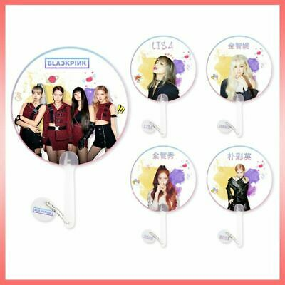 KPOP BLACKPINK Hand Fan Mini Double-Sided Pattern LISA JISOO JENNIE Well-liked