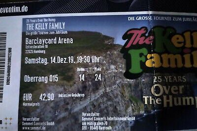 Ticket The Kelly Family Over The Hump 14.12.2019 Hamburg