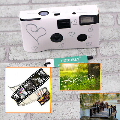 1Pcs Bridal Wedding Disposable Camera Silver Heart Design With Table Card Pack