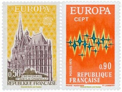 EBS France 1972 Europa CEPT Aachen Cathedral  YT 1714-1715 MNH**