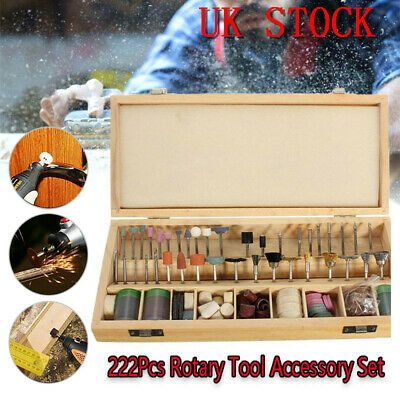 222X Rotary Power Drill Tool Accessory Kit Fits Dremel Multi Tools Set F1