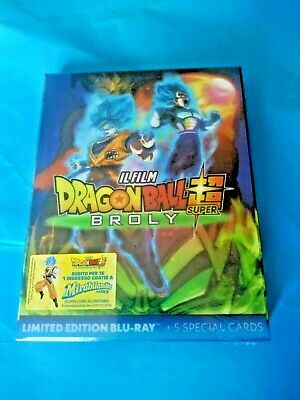Dragon Ball Super Broly IL FILM limited edition blu ray + 5 special cards