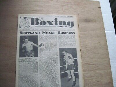 Boxing News Magazine - August 24, 1949. Vintage Issue