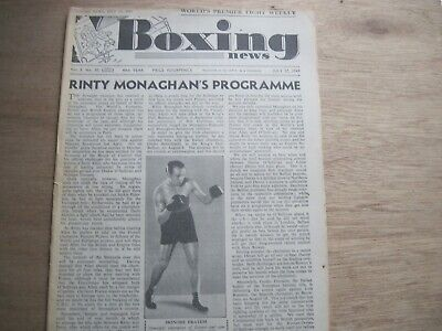 Boxing News Magazine - . July 27, 1949 Vintage Issue